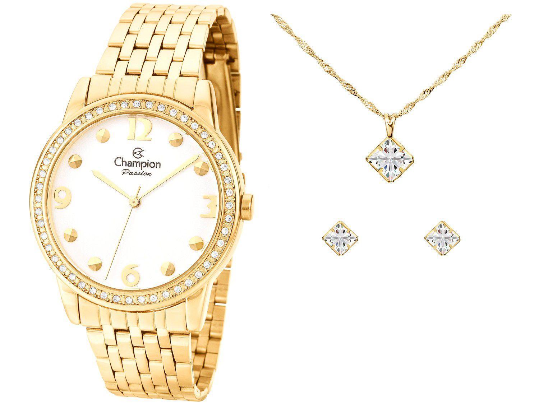 Relógio Feminino Champion Analógico CN27901W - Dourado com Acessório
