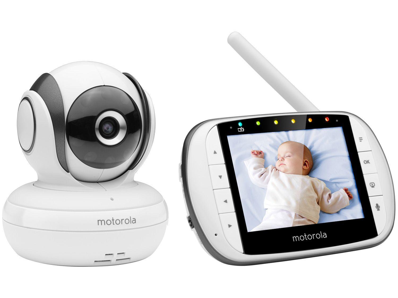 """Babá Eletrônica Motorola MBP36S Tela 3,5"""" - Monitoramento da Temperatura Ambiente Rotação"""