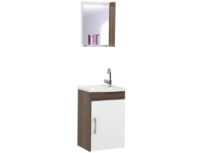 Armário de Banheiro Aéreo com Espelho 1 Porta - 1 Prateleira A. J. Rorato Veneza 520840