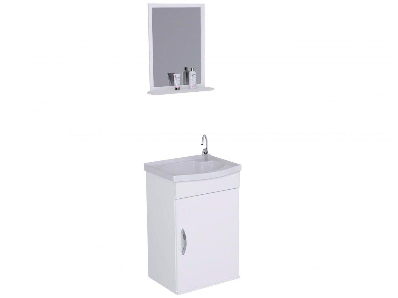 Armário de Banheiro Aéreo com Espelho 1 Porta - 1 Prateleira A. J. Rorato Verona 528802