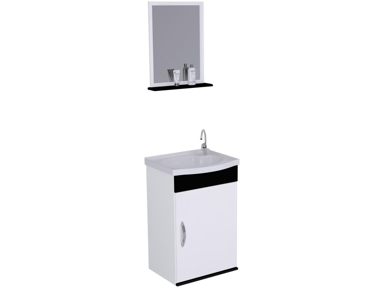 Armário de Banheiro Aéreo com Espelho 1 Porta - 1 Prateleira A. J. Rorato Verona 528815
