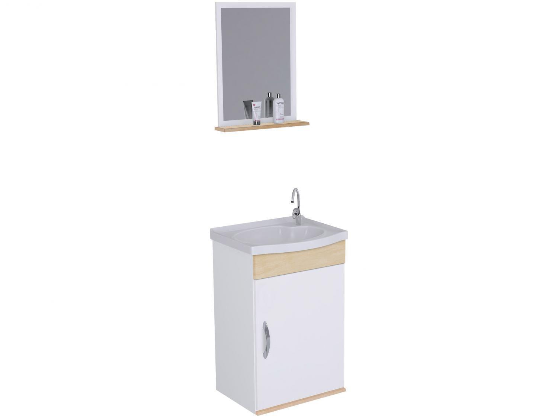 Armário de Banheiro Aéreo com Espelho 1 Porta - 1 Prateleira A. J. Rorato Verona 528821