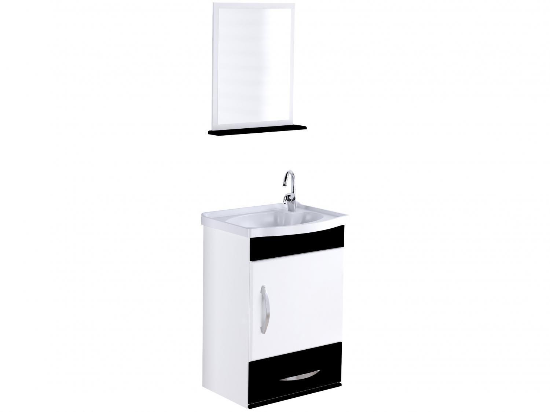 Armário de Banheiro Aéreo com Espelho 1 Porta - 1 Gaveta 1 Prateleira A. J. Rorato Verona 578115