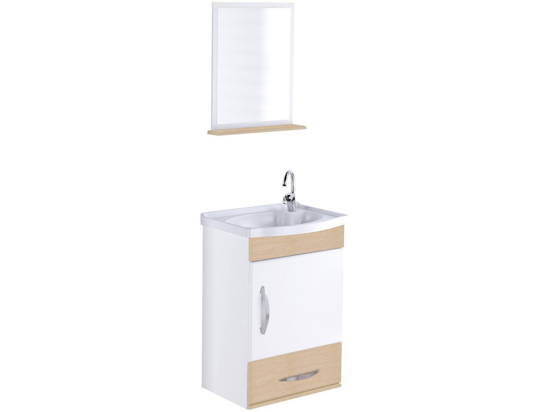 Armário de Banheiro Aéreo com Espelho 1 Porta - 1 Gaveta 1 Prateleira A. J. Rorato Verona 578121