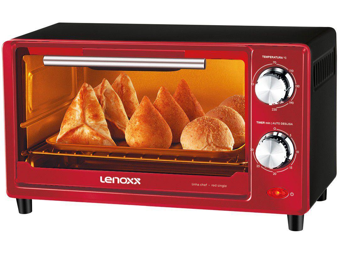 Forno Elétrico de Bancada Lenoxx 9L - Chef Red Single PFO307
