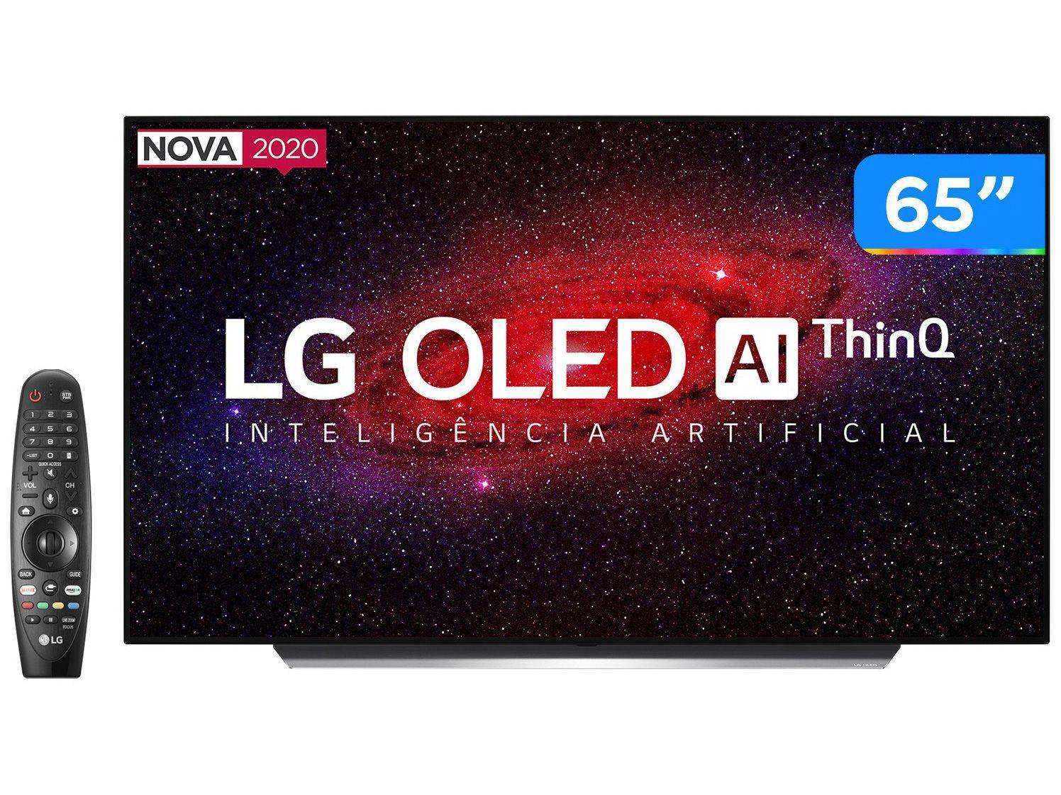 "Smart TV 4K OLED IPS 65"" LG OLED65CXPSA - Wi-Fi Bluetooth HDR Inteligência Artificial 4 HDMI"