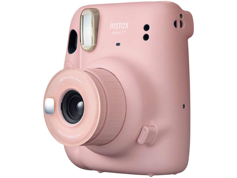 Instax Mini 11 Fujifilm Rosa Flash Automático