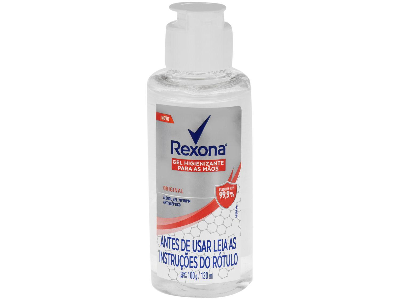 Gel Higienizador Rexona Original - Elimina até 99,9% das Bactérias 120ml
