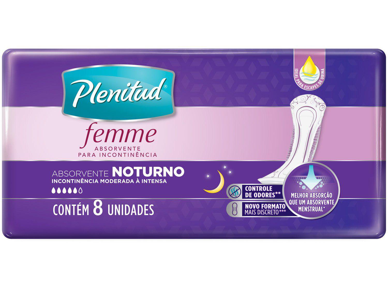 Absorvente para Incontinência Urinária Nortuno - Plenitud Femme sem Abas 8 Unidades