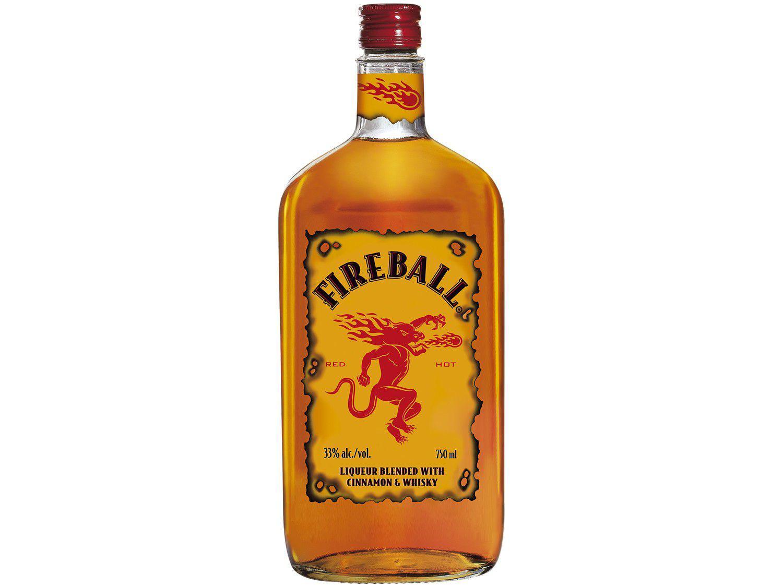 Licor Fireball Whisky com Canela Red Hot 750ml