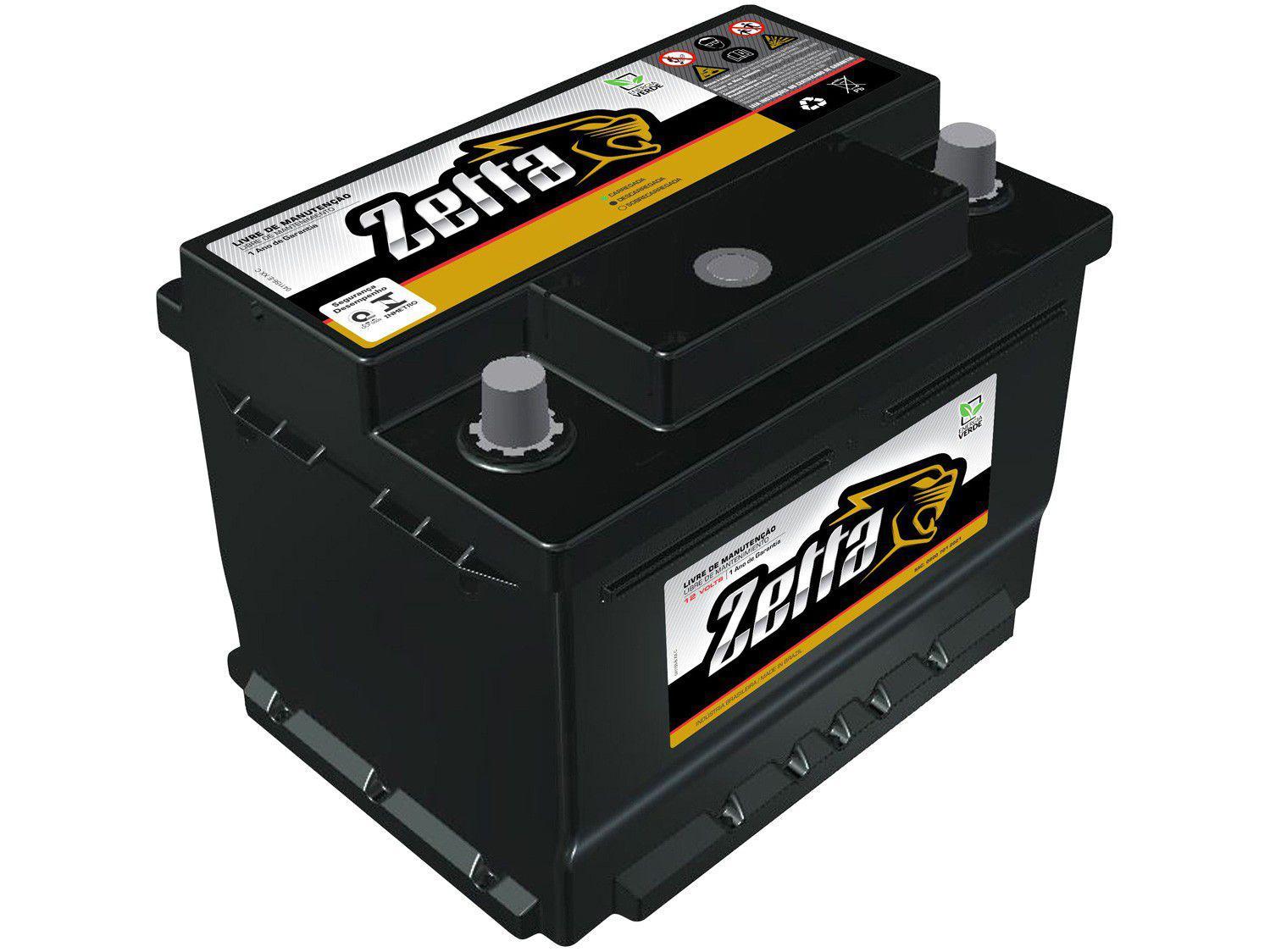 Bateria de Carro Zetta Flooded Advanced - 60Ah 12V Polo Positivo Z60D MGE