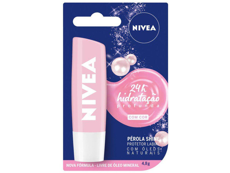Protetor Labial Nivea Pérola Shine - Hidratação Profunda 4,8g