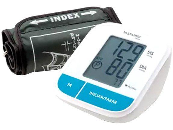 Medidor de Pressão Arterial de Braço Digital - Multilaser Automático HC206