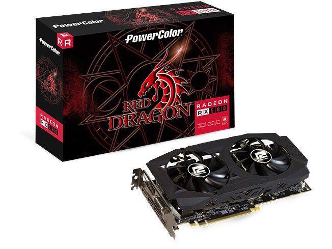 Placa de Vídeo Power Color Radeon RX 580 8GB - GDDR5 256 bits Red Dragon