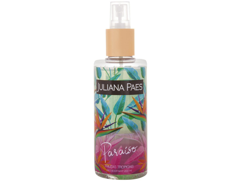 Body Splash Juliana Paes Paraíso Frutas Tropicais - Floral Fresco Frutado 200ml