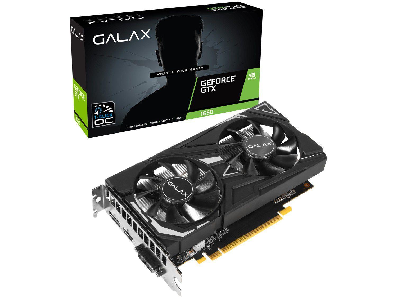 Placa de Vídeo Galax GeForce GTX 1650 EX 4GB GDDR6 - 65SQL8DS66E6