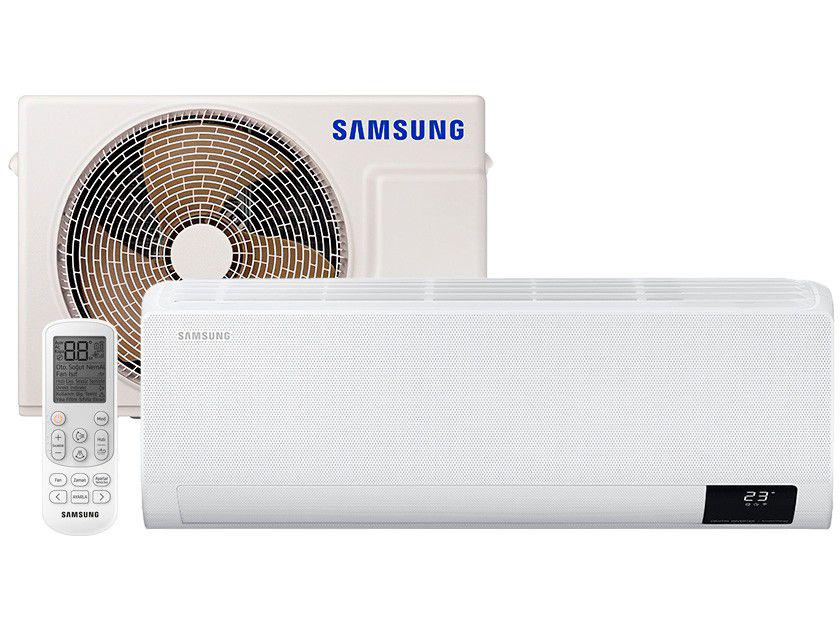 Ar-condicionado Split Samsung Inverter 9.000 BTUs - Quente e Frio Wind Free AR09TSHCBWKNAZ