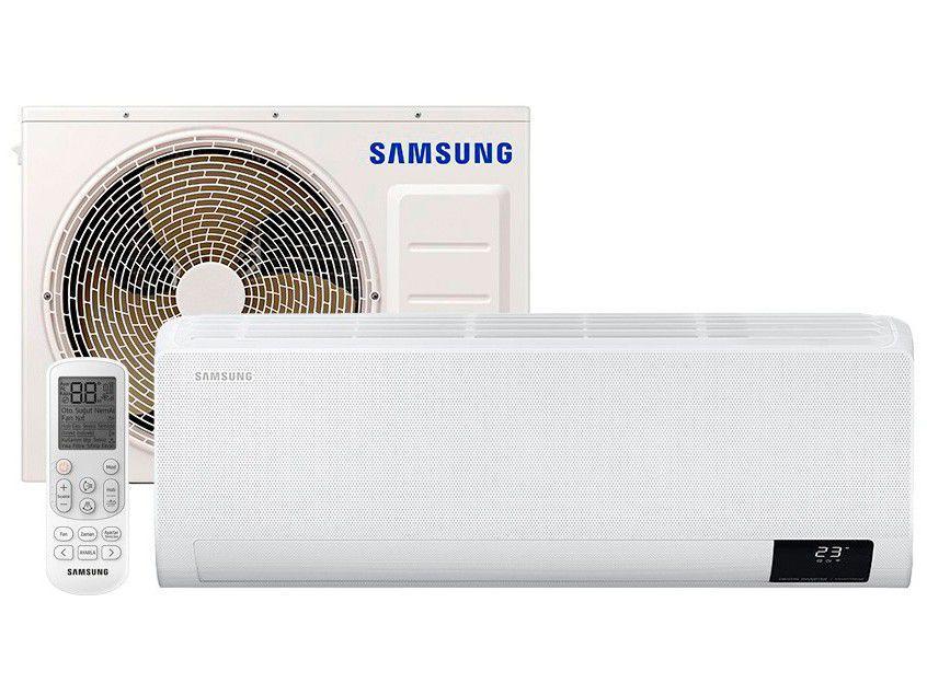 Ar-condicionado Split Samsung Inverter 18.000 BTUs - Quente e Frio Wind Free AR18TSHCBWKNAZ