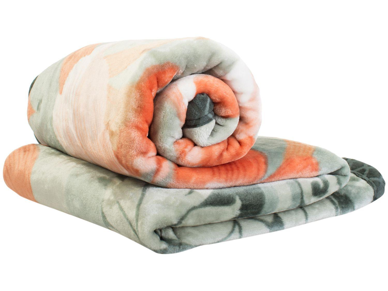 Cobertor Casal Jolitex Microfibra Raschel Plus - Molino Verde
