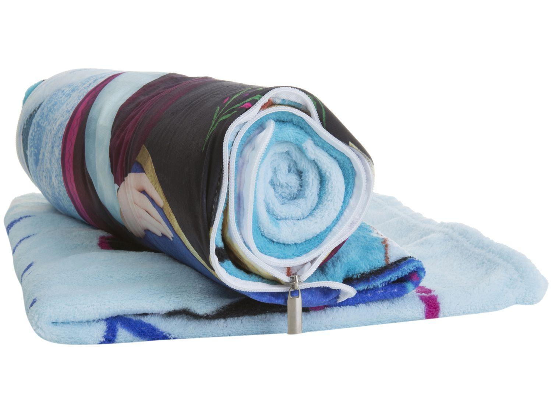 Manta Almofada Juvenil Jolitex Microfibra Disney - Frozen Azul