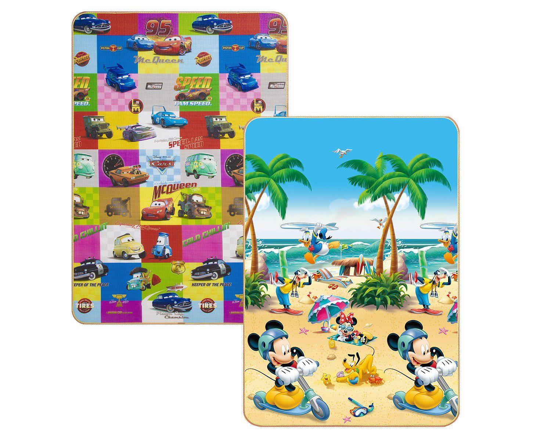 Tapete Infantil para Quarto Retangular - Recreio Disney Carros Mickey 120x180cm Jolitex