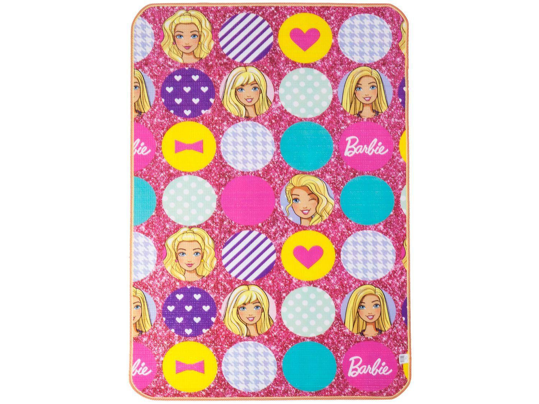 Tapete Infantil Barbie para Quarto Retangular - Recreio Mattel 120x180cm Jolitex