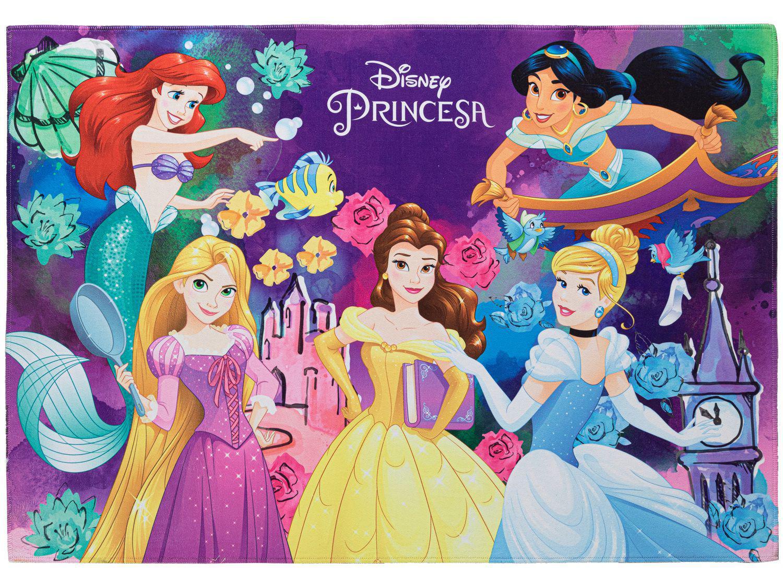 Tapete Infantil Encontro das Princesas Retangular - Joy Disney 70x100cm Jolitex