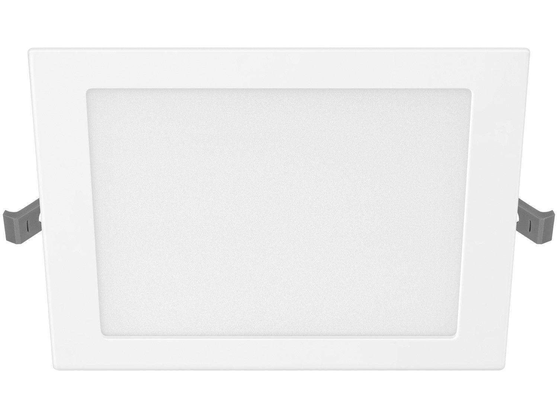 Plafon de Sobrepor Quadrado Branco - com Lâmpada Integrada LED 24W Philips DL252