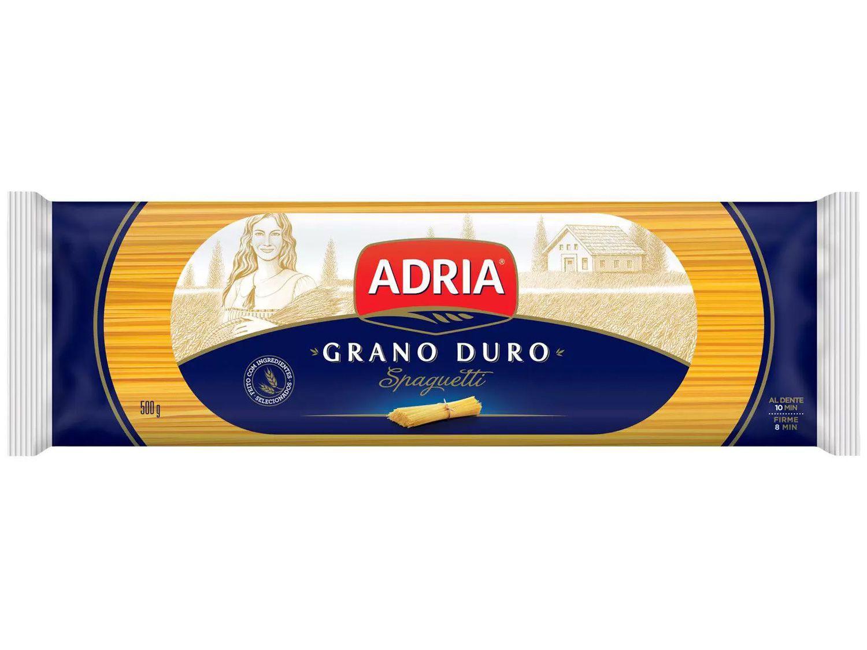 Macarrão Espaguete de Sêmola Adria Seco Grano Duro - Spaguetti 500g