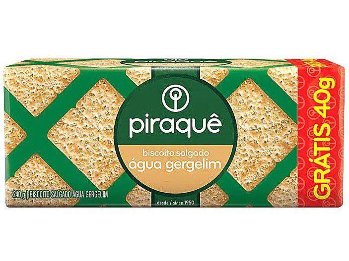Biscoito Salgado Água Gergelim Piraquê - 240g