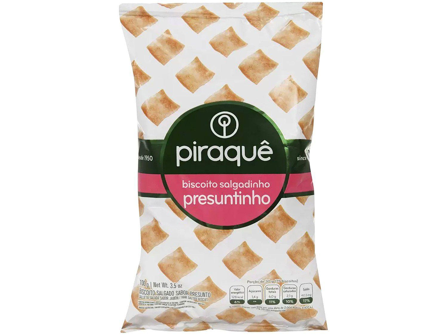 Biscoito Salgadinho Presunto Piraquê - 100g