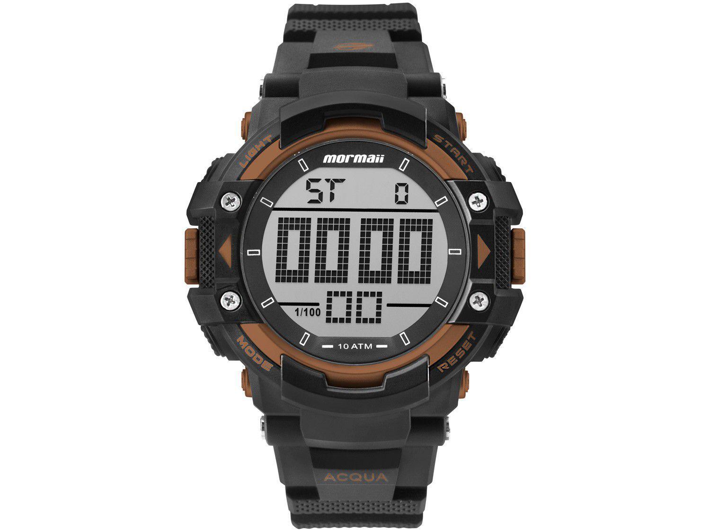 Relógio Masculino Mormaii Digital Esportivo - Action MO15190AB/8L Preto e Laranja