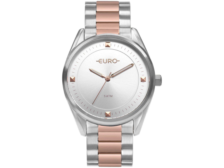 Relógio Feminino Euro Analógico - EU2036YOB/5K Prata e Rosé
