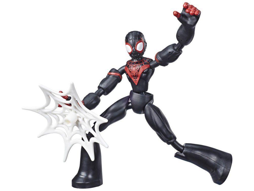 Boneco Homem-Aranha Marvel Miles Morales - Bend and Flex Hasbro