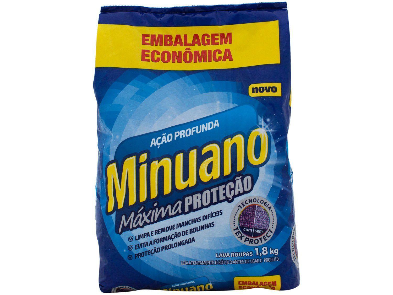 Sabão em Pó Minuano Máxima Proteção - Ação Profunda 1,8kg