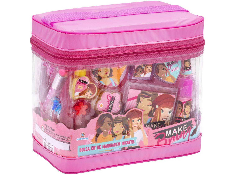 Kit Maquiagem Infantil Make Brinq Polibrinq - 20 Peças