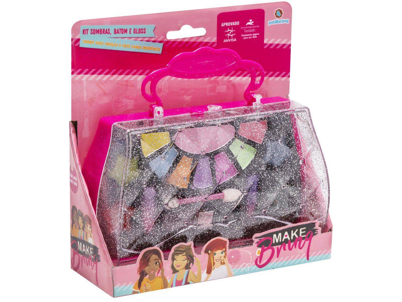 Kit Maquiagem Infantil Make Brinq - Polibrinq