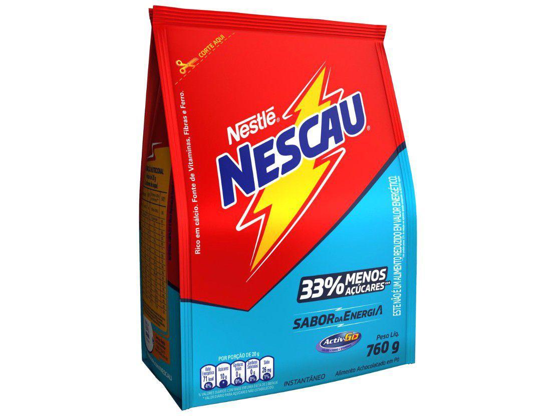 Achocolatado em Pó Nescau - 33% Menos Açúcares Light 760g