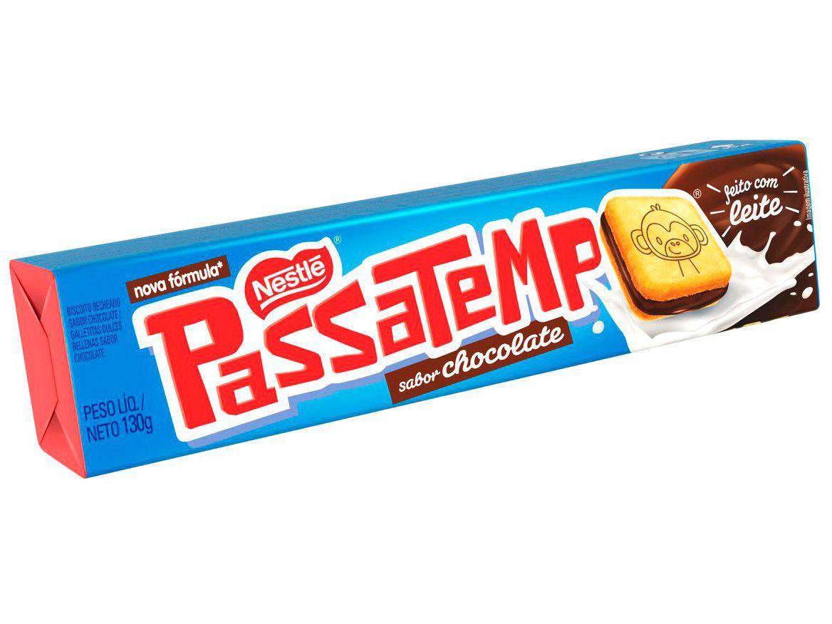 Biscoito Recheado Chocolate Passatempo 130g