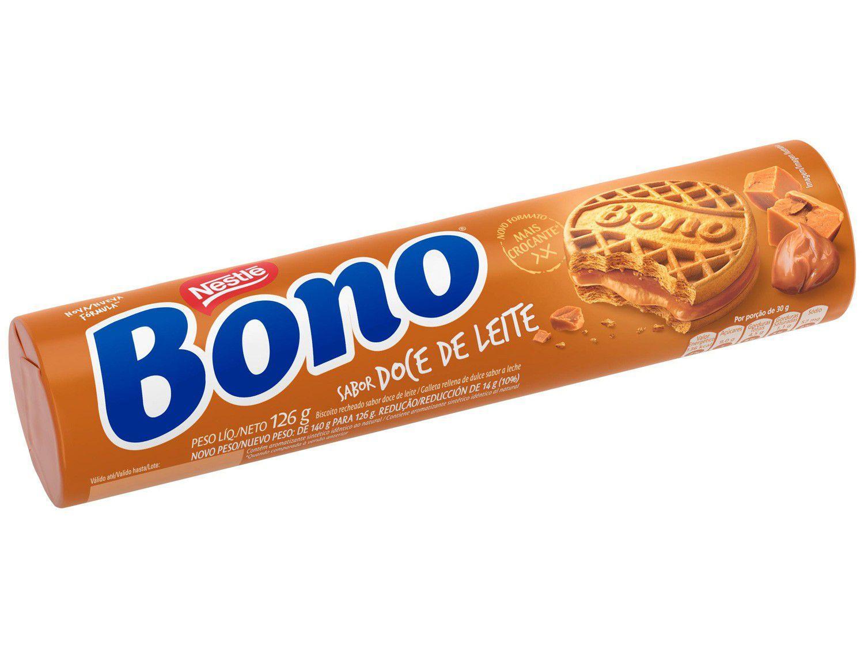 Biscoito Recheado Doce de Leite Bono 126g
