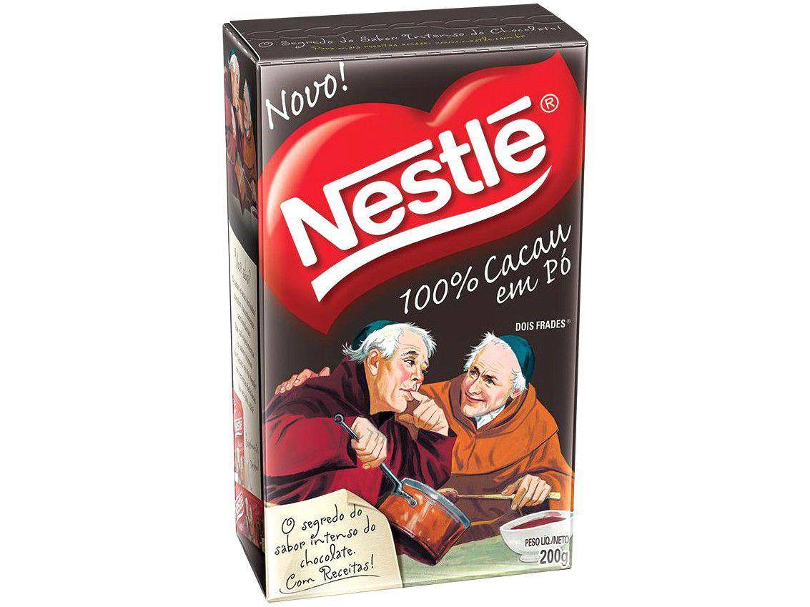 Cacau em Pó Dois Frades 100% Cacau Nestlé - 200g