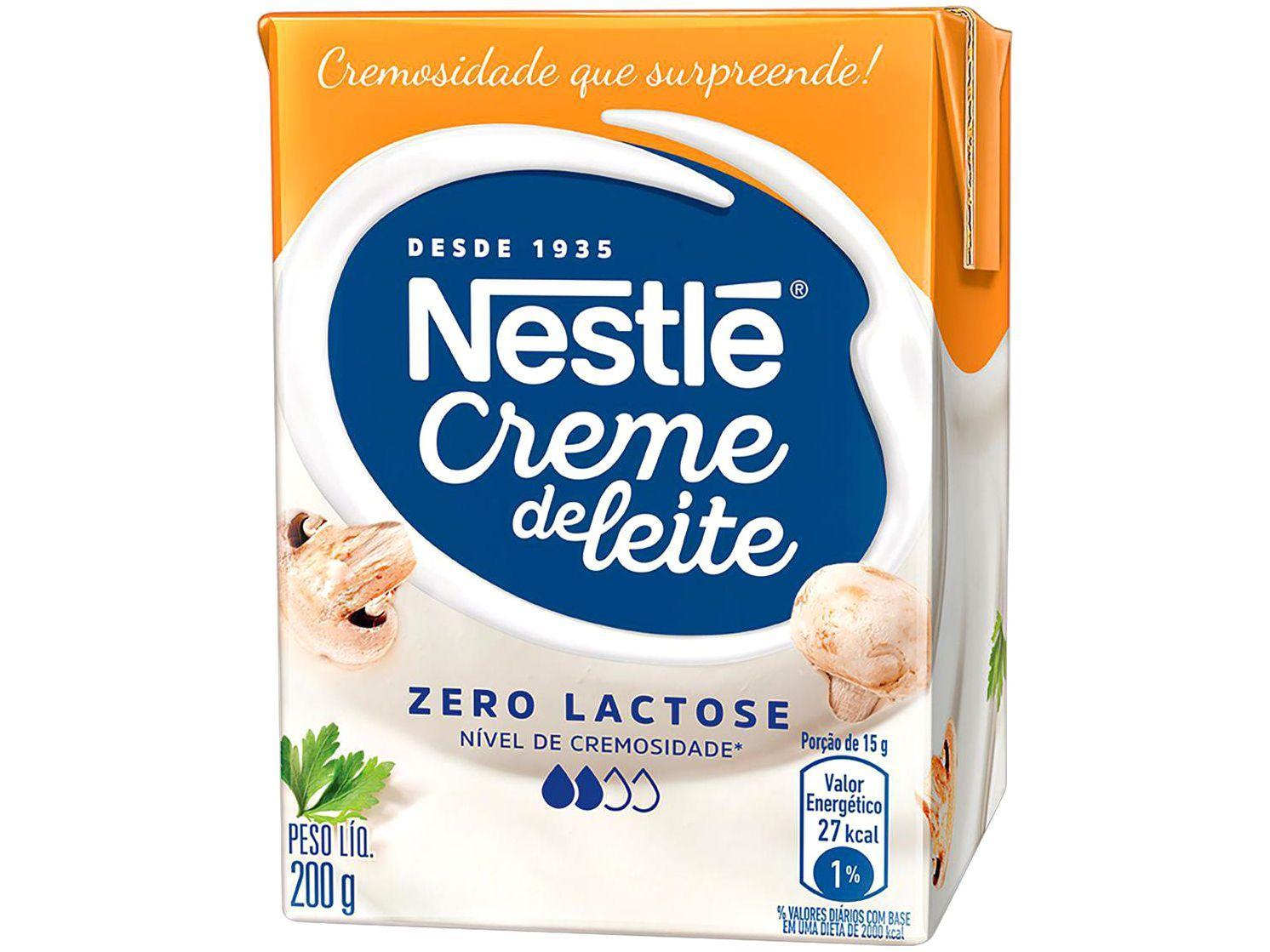 Creme de Leite Zero Lactose 200g Nestlé