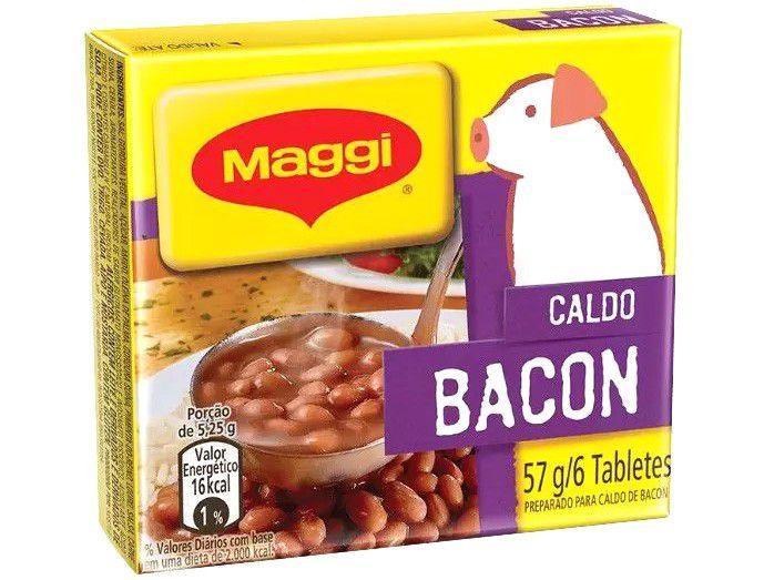 Caldo Maggi Bacon em Cubos 57g