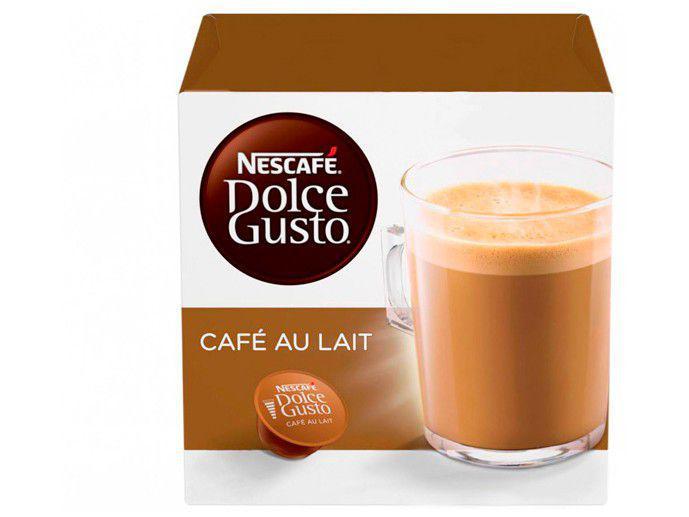 Cápsula Café com Leite Nescafé Café Au Lait - Dolce Gusto 16 Unidades