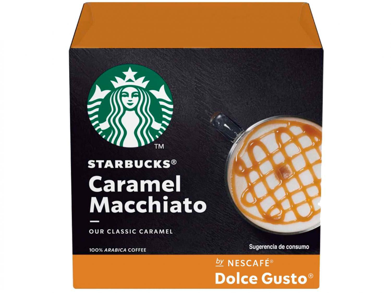 Cápsula Nescafé Caramel Latte Macchiato - Dolce Gusto Starbucks 12 Cápsulas