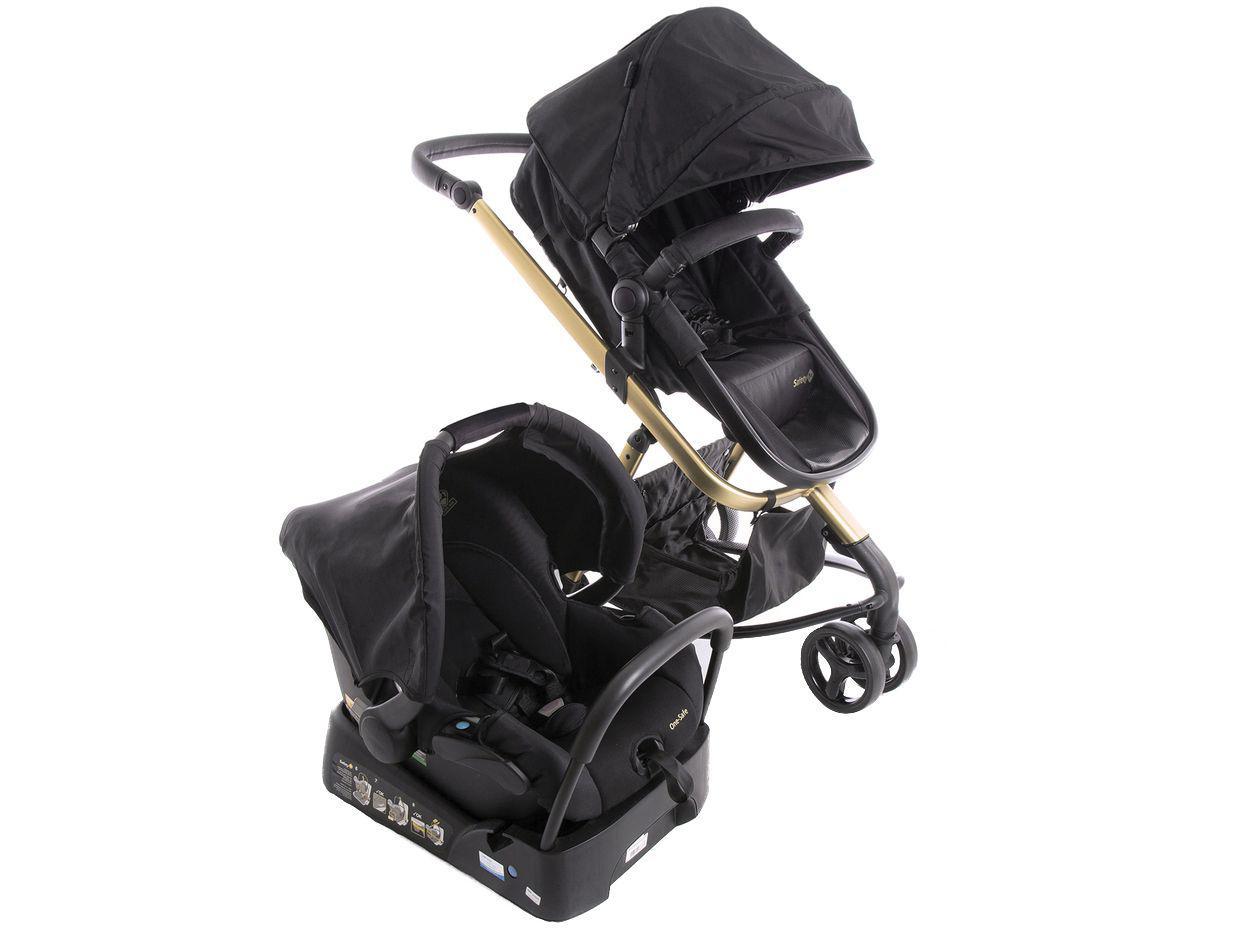 Carrinho de Bebê com Bebê Conforto Safety 1st - Travel System Mobi Trio 3 Rodas até 15Kg