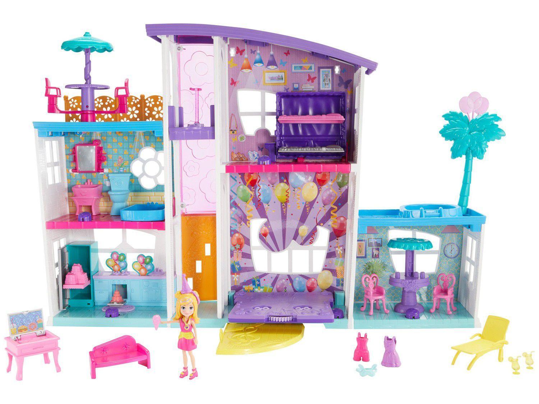 Casinha de Boneca Mega Casa de Surpresas - Polly Pocket