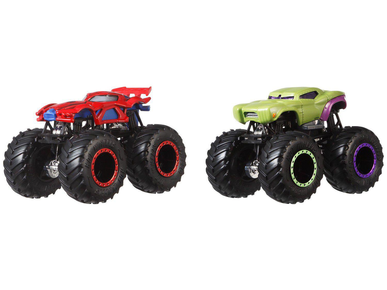 Carrinho Hot Wheels Monster Trucks Mattel 2 Peças