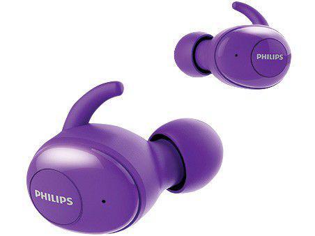 Fone de Ouvido Bluetooth Philips TWS SHB2505PP/10 - Intra-auricular com Microfone Roxo