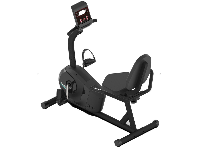 Bicicleta Ergométrica Horizontal Acte Sports E26 - Magnética 8 Níveis de Esforço 7 Funções